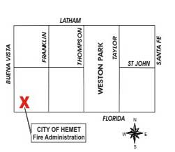 Fire Administration map