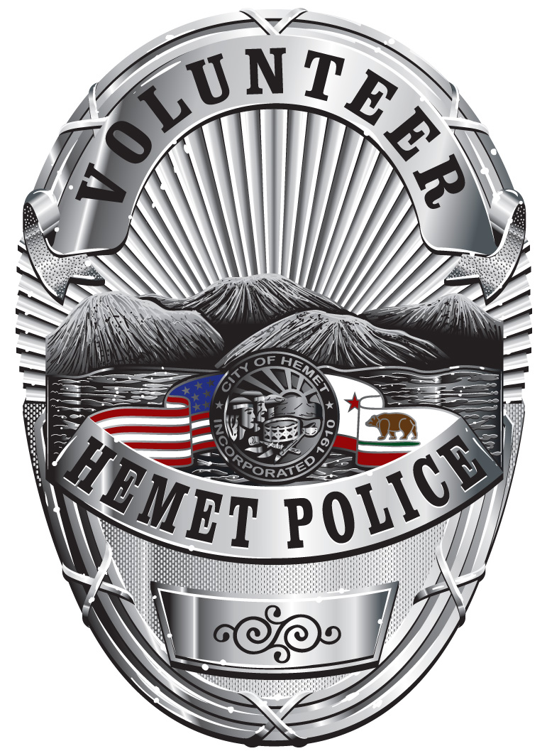 Hemet Police Volunteer Badge