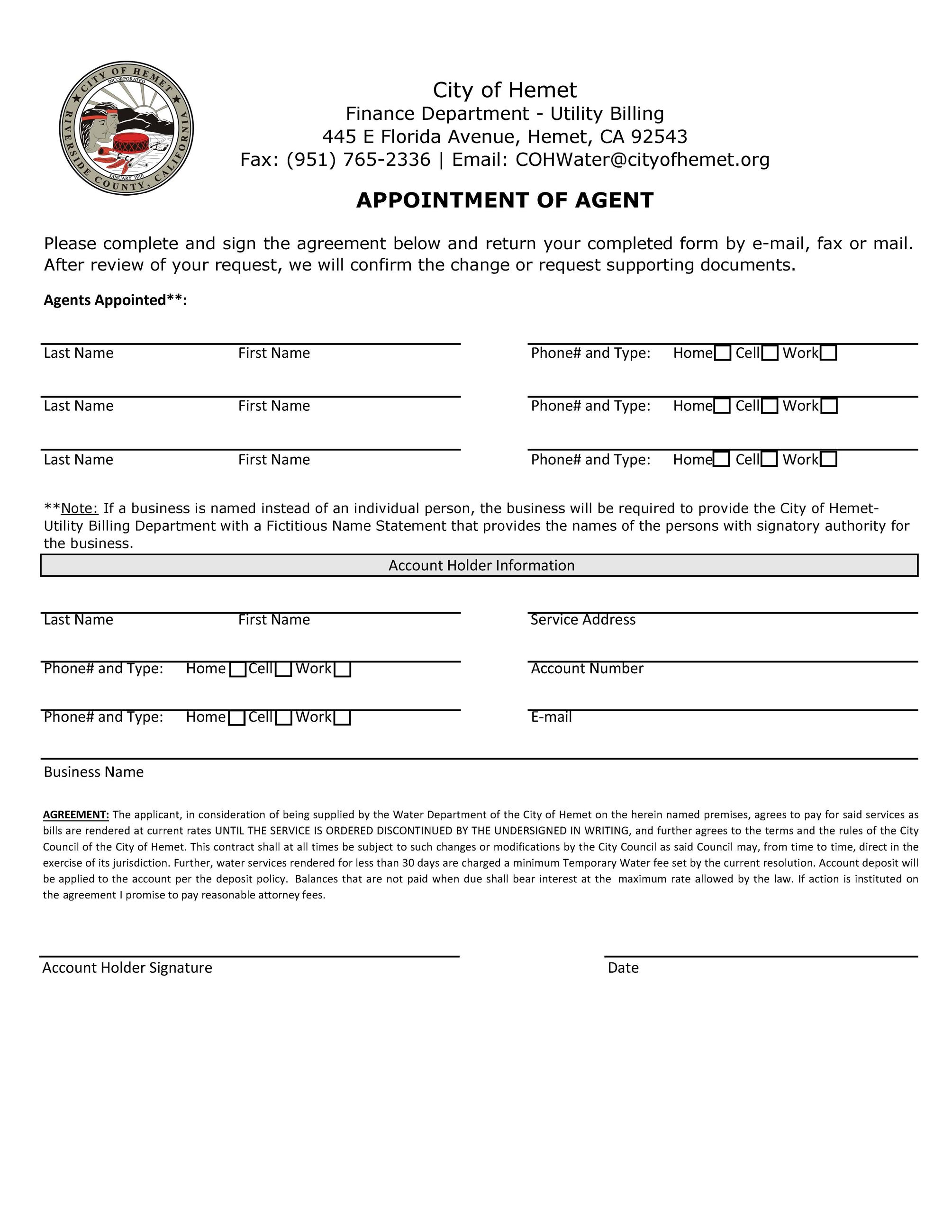 APPT OF AGENTS FORM_3-15-2021