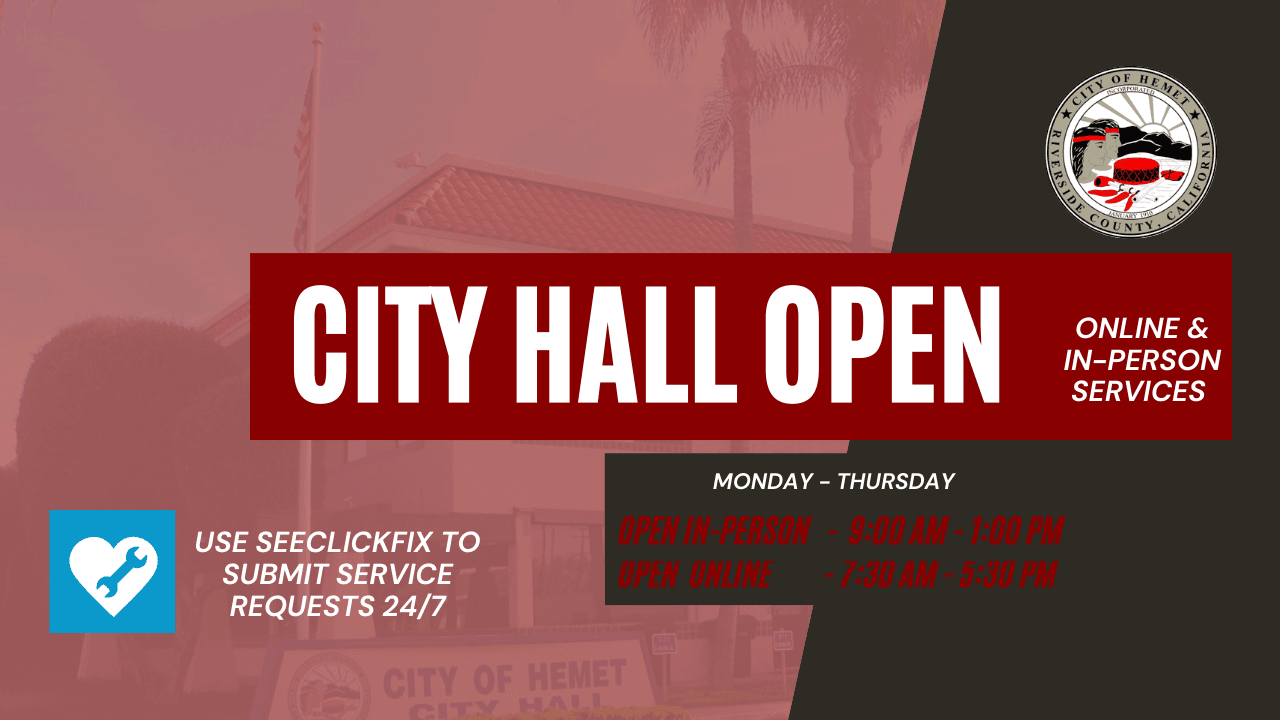CITY HALL OPEN HOURS