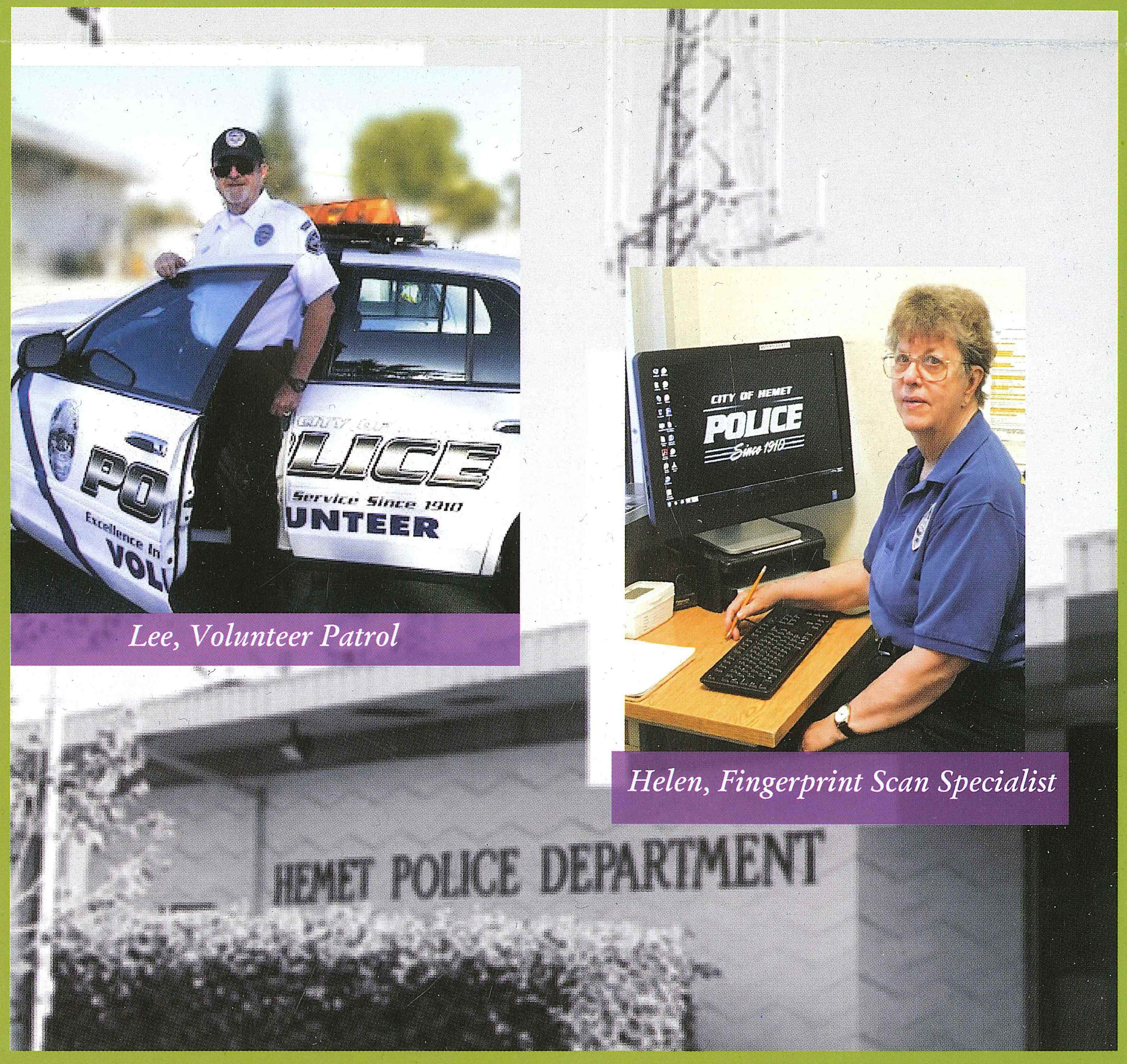 Hemet Police Volunteers 2018